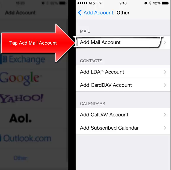 how to set default email account on iphone 6